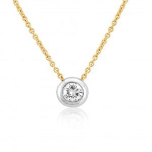 18ct Yellow & White Gold Diamond Slider Pendant