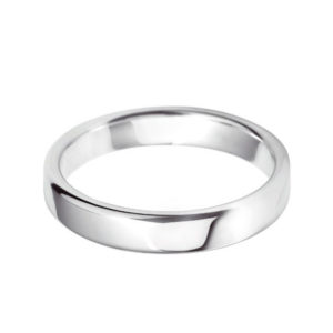 Platinum 4mm Traditional Heavy Weight Court Wedding Ring Groom Sizes