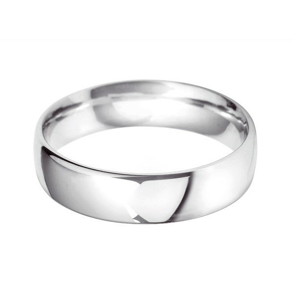 Platinum - 6mm Traditional Heavy Weight Court Wedding Ring